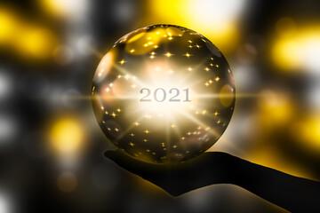 zukunft 2021 in der Kristallkugel