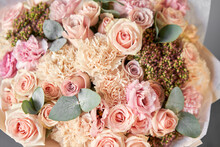 Beautiful Spring Bouquet On Wo...