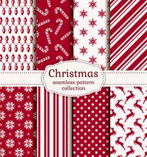 Christmas Seamless Patterns. V...