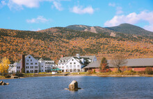 Cochran Pond, Waterville Valley, Autumn In New Hampshire