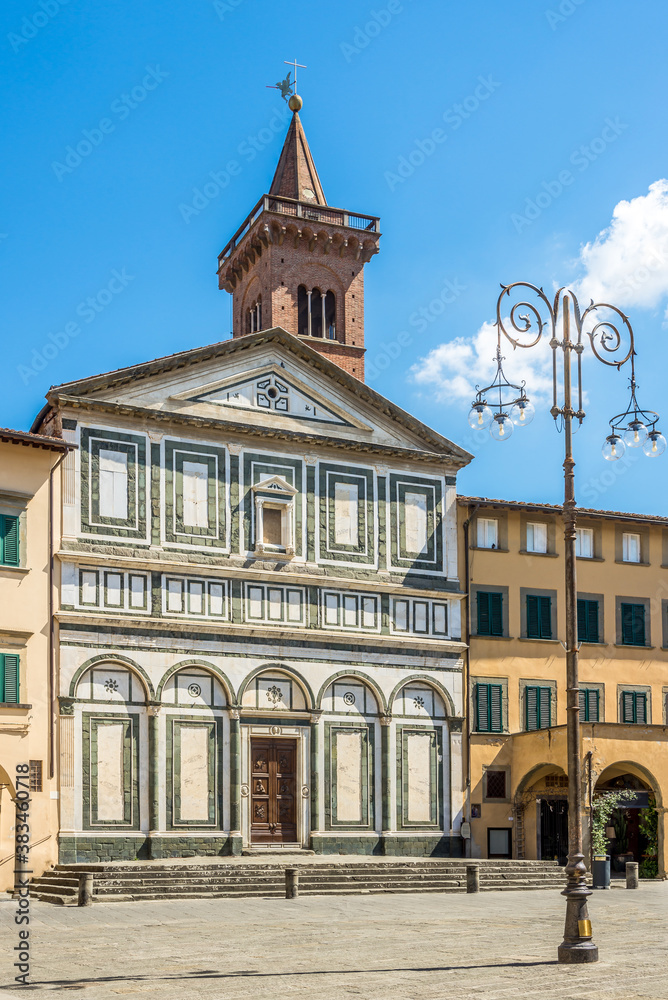 View at the Church of Saint Andrew in Empli tow,- Italy