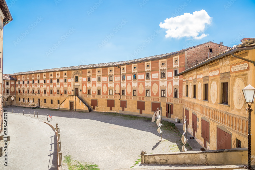 View at the building of Episcopal Seminary in San Miniato, Italy