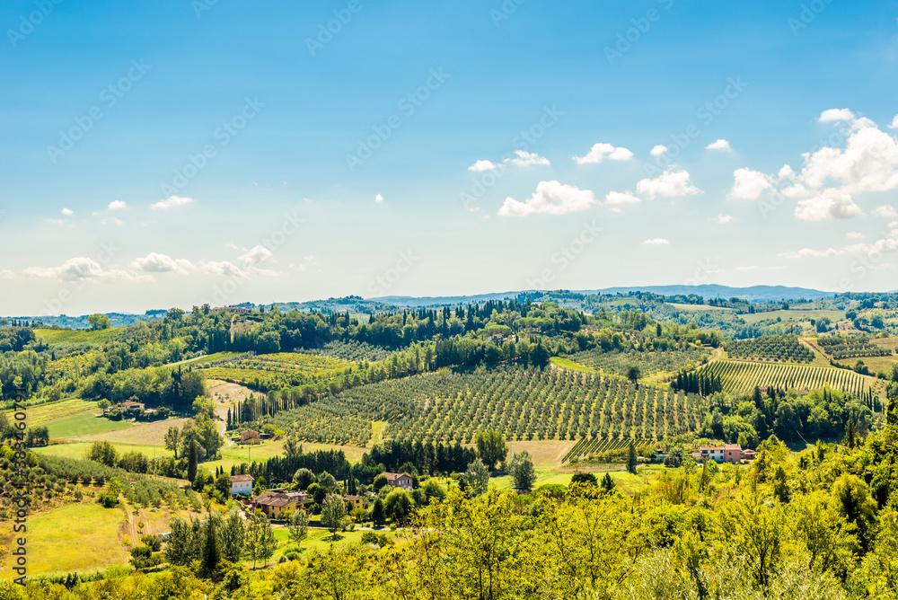 View to the valley near San Miniato town - Italy