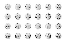 Twenty Four Photo Realistic Isometric Game Dices