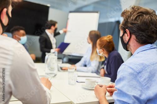 Fototapeta Business Team Leute schauen auf Präsentation obraz