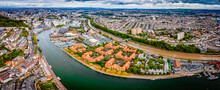 Aerial Panorama Of The City Of...