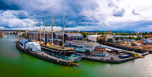 Aerial Panorama Of Bristol Wit...