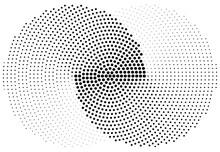 Interlocking, Interlace Halftone Circles Vector Illustration. Infinity, Infinite Symbol, Icon