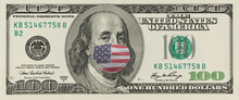 One Hundred Dollar Bill With S...