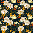 Seamless pattern of floral concept with vintage style