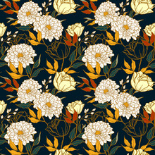 Seamless Pattern Of Floral Con...