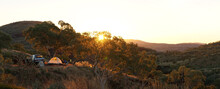 Hiking And Camping In The Hilly Landscapes Near Dales Gorge And Karijini National Park In Western Australia.
