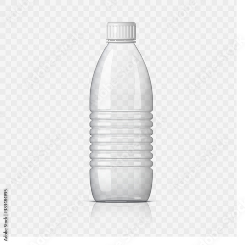 Realistic plastic bottle on a transparent background. Mock Up Template. Vector illustration