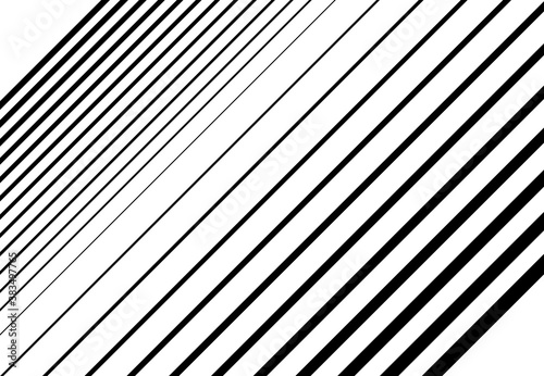 Canvas Print Halftone diagonal, oblique, slanting parallel and random lines,stripes pattern and background
