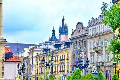 Fototapeta Widok miasta Krakowa obraz