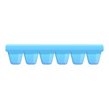 Plastic Ice Cube Tray Icon. Ca...