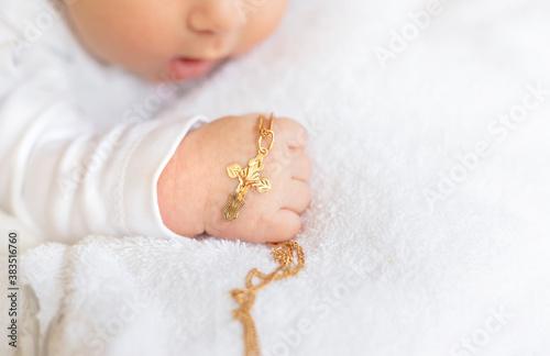 Canvastavla The sacrament of the baptism of a child
