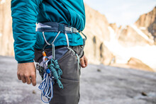 Side View Of Climbers Harness ...