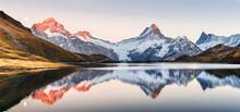 Wide Panorama Of Bachalpsee La...