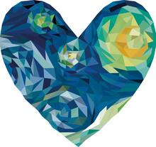 Heart Polygonal Graphics Based...