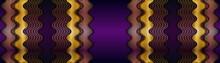 Dark Shadow Purple Space With Abstract Golden Gradient Overlap Layer Design