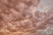 Storm Clouds During Sunset In ...