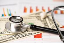 Stethoscope On US Dollar Bankn...