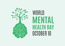 World Mental Health Day Vector...