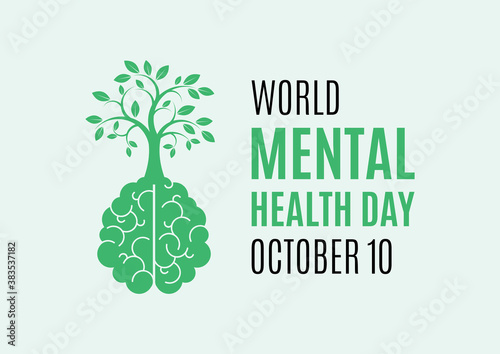 Fotografering World Mental Health Day vector