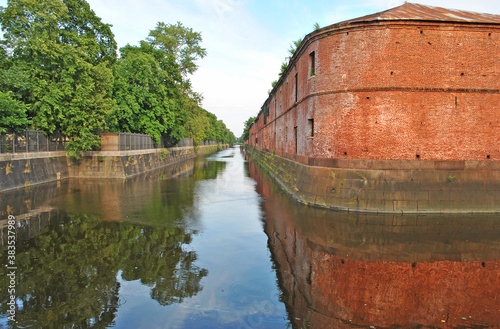 The building of the Kronstadt admiralty and the bypass canal Canvas Print