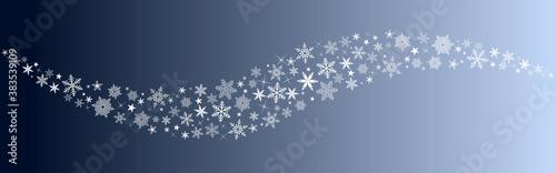Fototapeta Décoration de noël avec étoiles et flocons de neige