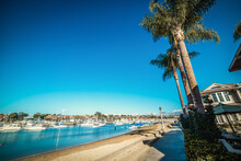 Balboa Island Seafront On A Clear Day