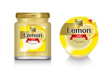 レモンのジャムとゼリーのイラスト