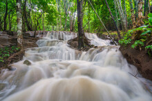 Waterfall Scene At Pha Tad Wat...