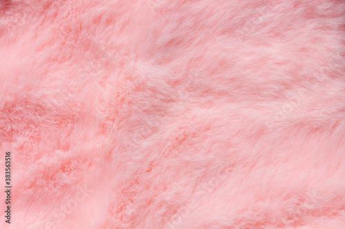 Fotografie, Obraz Pink fur texture top view