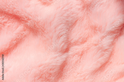Obraz na plátně Pink fur texture top view