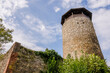 canvas print picture - Muttenz, Wartenberg, Hintere Burg, Ruine, Turm, Aussichtsturm, Wanderweg, Wald, Laubwald, Baselland, Herbst, Schweiz