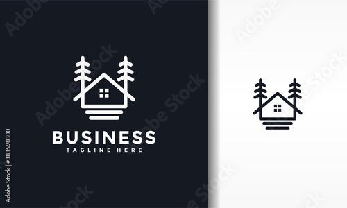 Fotografía fir tree house logo