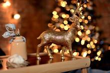 Christmas Deer In The Night On...