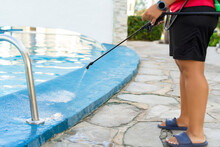 Cleaning Staff Disinfecting Th...