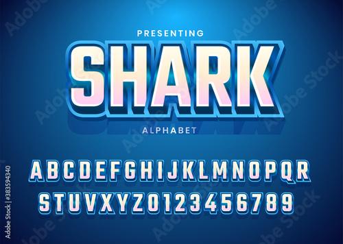 Fotografie, Obraz Esport text effect alphabet typography for gamer or streamer