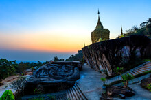 Wat Tham Pha Daen Temple Is A Beautiful Temple Located On The Side Of Phu Phan Mountain In Province Sakon Nakhon; Thailand.