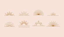 Vector Set Of Linear Boho Icon...