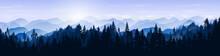 Snowy Mountain Landscape. Vect...