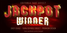 Editable Text Effect - Jackpot Prize Style. Eps Vector File.
