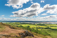 View From Hoad Hill Looking Across The Levens Valley At The Head Of Morecambe Bay, Ulverston In Cumbria