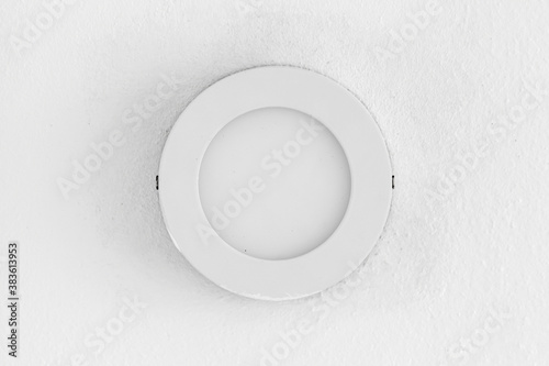 Round recessed light element close-up photo Wallpaper Mural