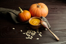 Autumn Pumpkin Cream Soup With...