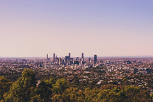 View Of Brisbane City From Mt Cootha