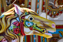 Carousel Horses On A Merry-go-...